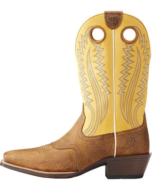Ariat Men's High Desert Roughstock Cowboy Boots - Square Toe, Tan, hi-res