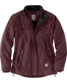 d095c354a7 Carhartt Womens Quick Duck Jefferson Traditional Jacket , Wine, hi-res