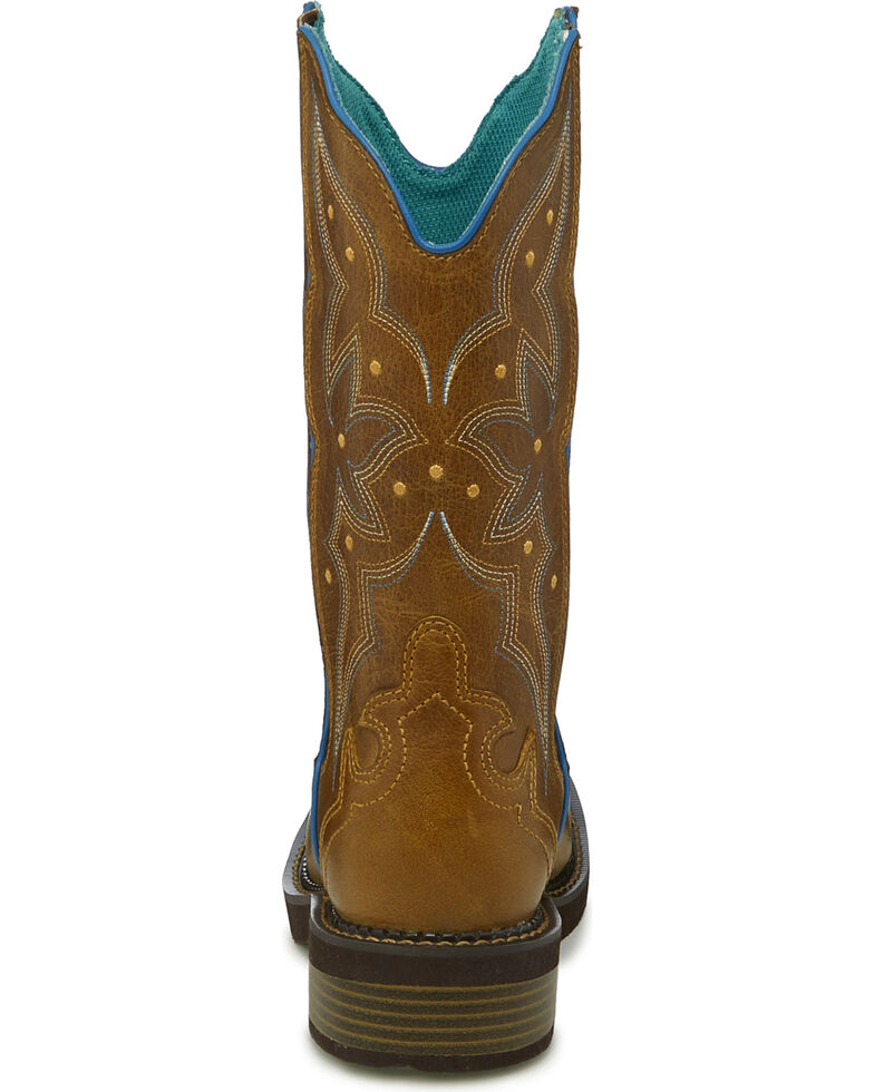 a7e8d63747d Justin Gypsy Women's Tan Heritage Floral Inlay Cowgirl Boots - Square Toe
