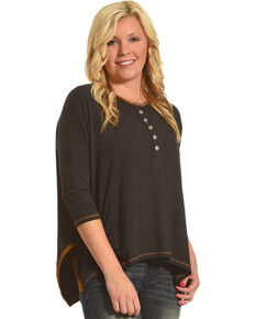 Tasha Polizzi Women's Taylor 3/4 Sleeve Shirt, Black, hi-res
