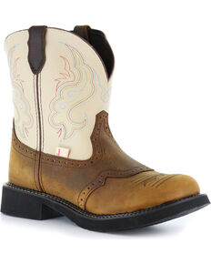 Justin Gypsy Women's Two Tone Cowgirl Boots - Round Toe, Brown, hi-res