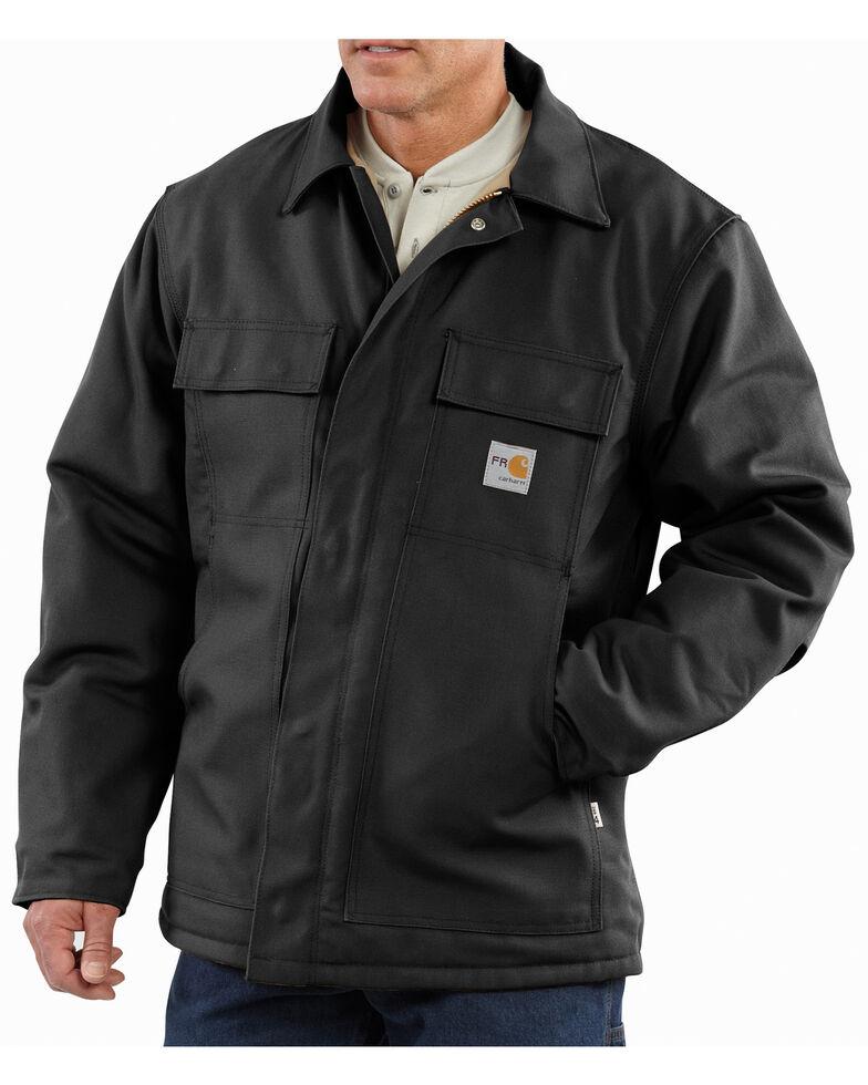 Carhartt Flame-Resistant Duck Traditional Coat, Black, hi-res