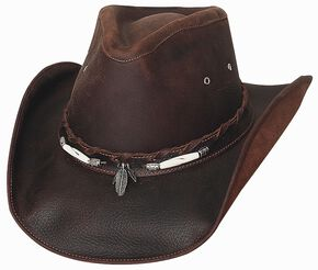 713c18dde7ff2 Bullhide Briscoe Leather Cowboy Hat