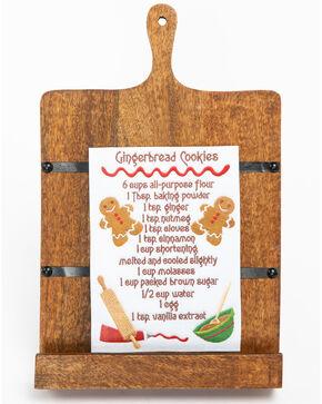BB Ranch Rustic Wood Cookbook Holder, Brown, hi-res