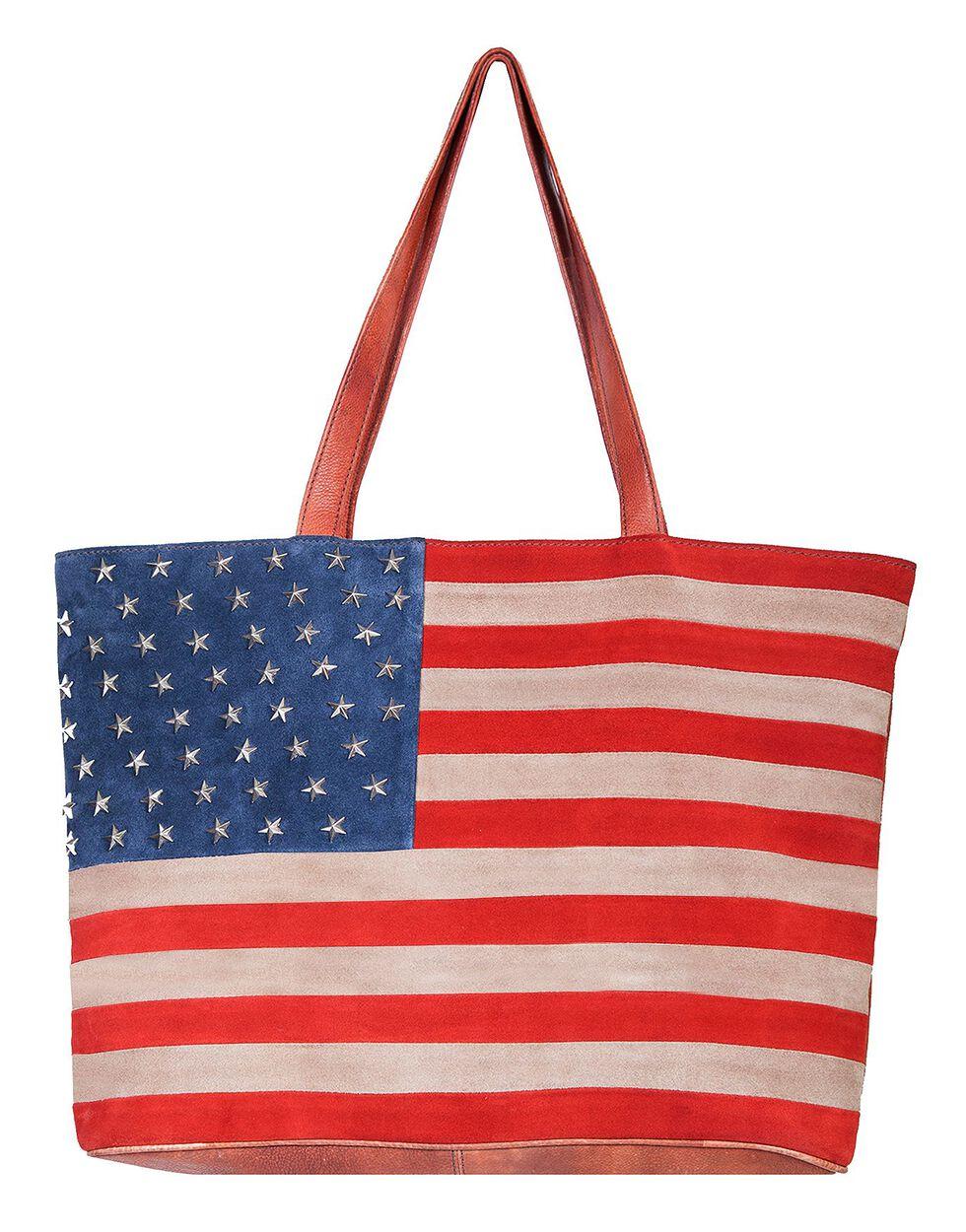 Scully Patriotic Suede Shoulder Bag, Patriotic, hi-res