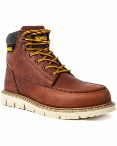 DeWalt Men's Flex Lace-Up Work Boots - Moc Toe, Wheat, hi-res