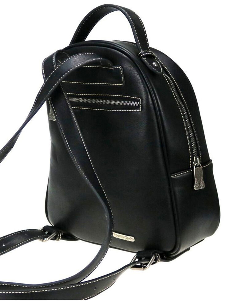 Trinity Ranch Women's Black Mandala Floral Collection Backpack, Black, hi-res