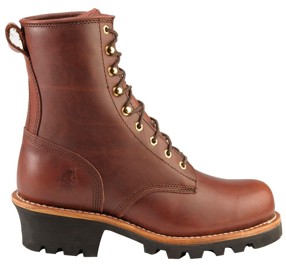"Chippewa 8"" Lace-Up Logger Boots - Steel Toe, , hi-res"