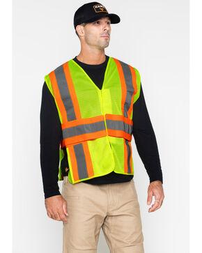 Hawx Men's 2-Tone Mesh Work XL Vest - Big & Tall, Yellow, hi-res