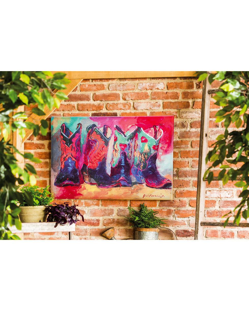 Evergreen Prismatic Boots Indoor Wall Canvas , Multi, hi-res