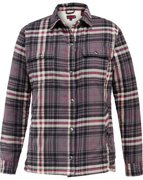 Wolverine Women's Rosewood Sherpa Lined Shirt Jac, Dark Grey, hi-res