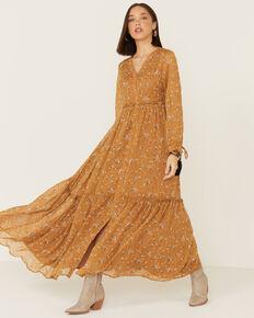 Mikarose Women's Luca Dress, Mustard, hi-res