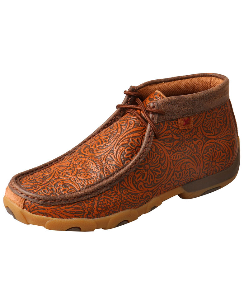 69eb2828cb2 Twisted X Women s Tooled Driving Moccasin Shoes - Moc Toe