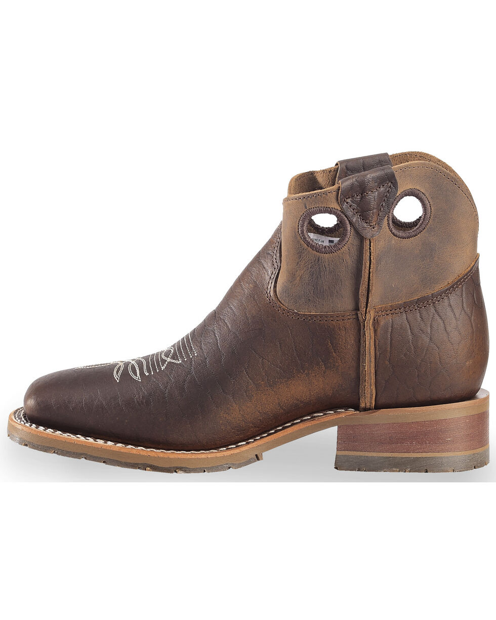Double H Men's Brown Domestic I.C.E Shortie Boots - Square Toe, Brown, hi-res