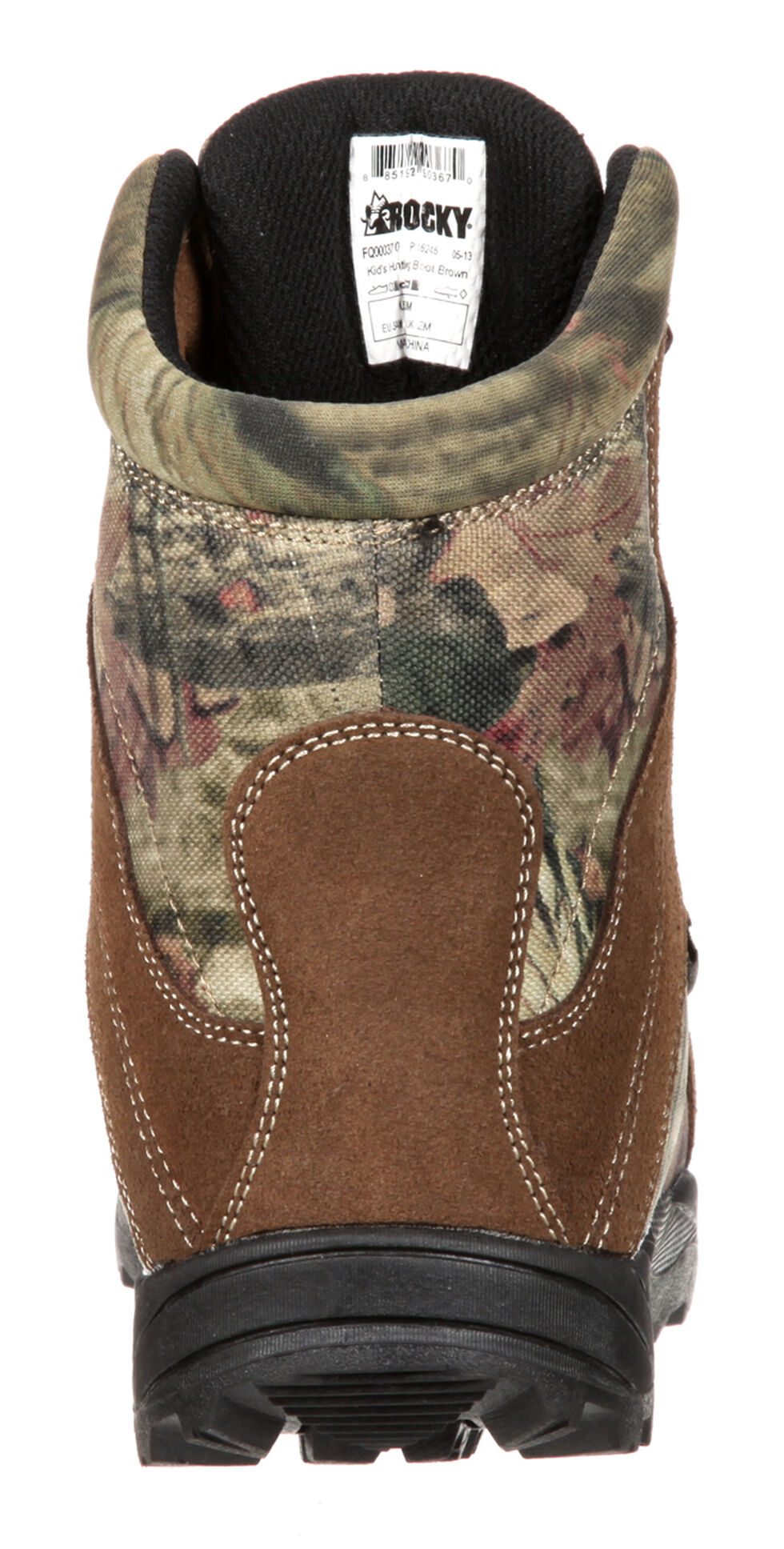 Rocky Youth Boys' Hunting Waterproof Insulated Boots, Brown, hi-res