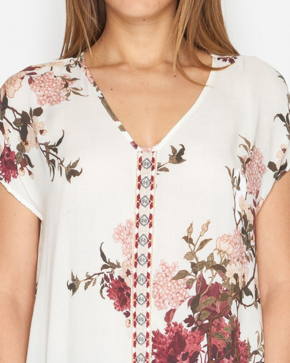 Johnny Was Women's Georgia Blooms Effortless Tunic, Multi, hi-res