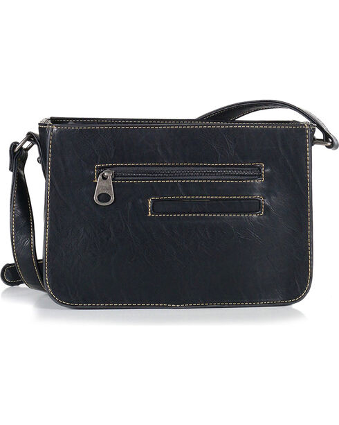 Montana West Women's Black Southwestern Collection Messenger Bag , Black, hi-res