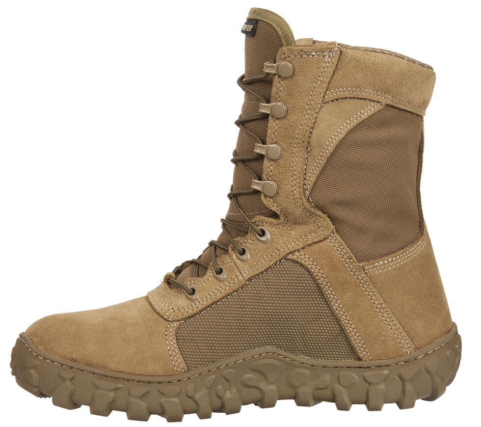 Rocky S2V Gore-Tex Waterproof Insulated Military Duty Boots - Round Toe, Brown, hi-res