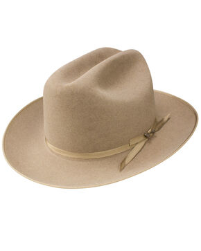 Stetson Men's Natural Open Road Royal Deluxe Hat, Natural, hi-res