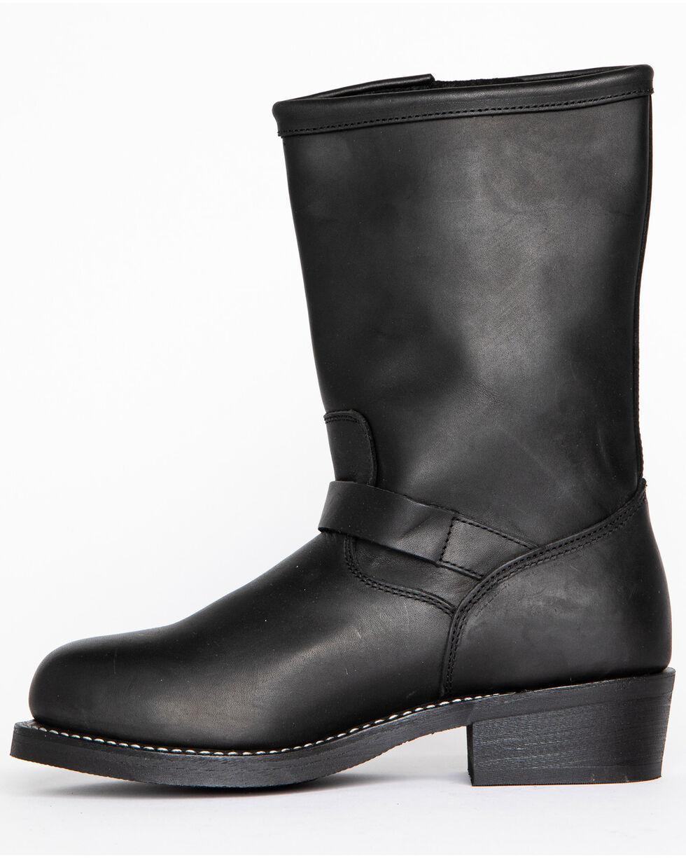 Cody James Men's Engineer Motorcycle Boots - Round Toe, Black, hi-res