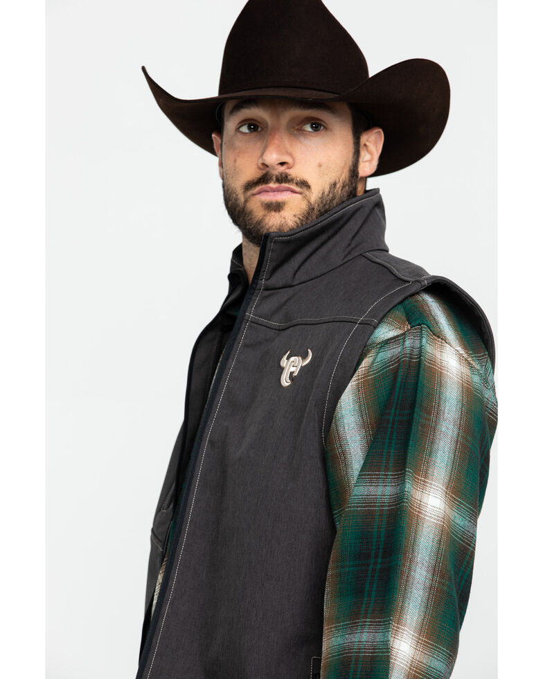 Cowboy Hardware Men's Tech Woodsman Vest , Black, hi-res