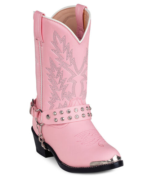 Durango Girls' Pink Cowgirl Boots, Pink, hi-res