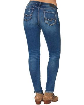 "Silver Women's Suki Mid Skinny Jeans - 31"" Inseam, Blue, hi-res"