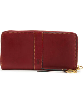 Frye Women's Ilana Harness Zip Wallet , Wine, hi-res