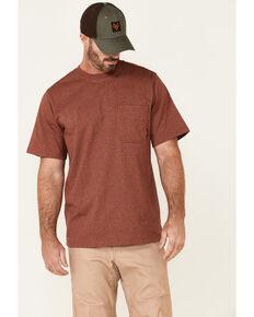 Hawx Men's Solid Red Forge Short Sleeve Work Pocket T-Shirt - Big , Red, hi-res