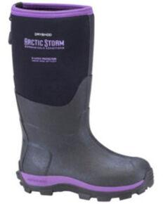 Dryshod Girls' Purple Arctic Storm Rubber Boots - Soft Toe, Black/purple, hi-res
