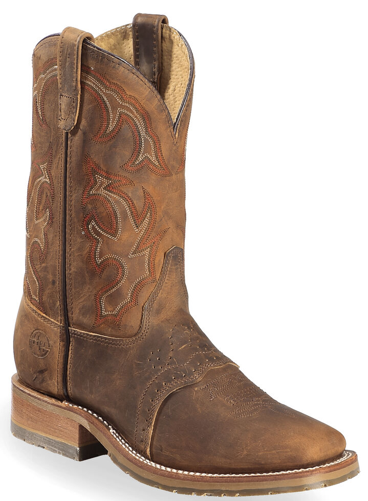 Double H Ice Roper Western Work Boots Wide Square Toe