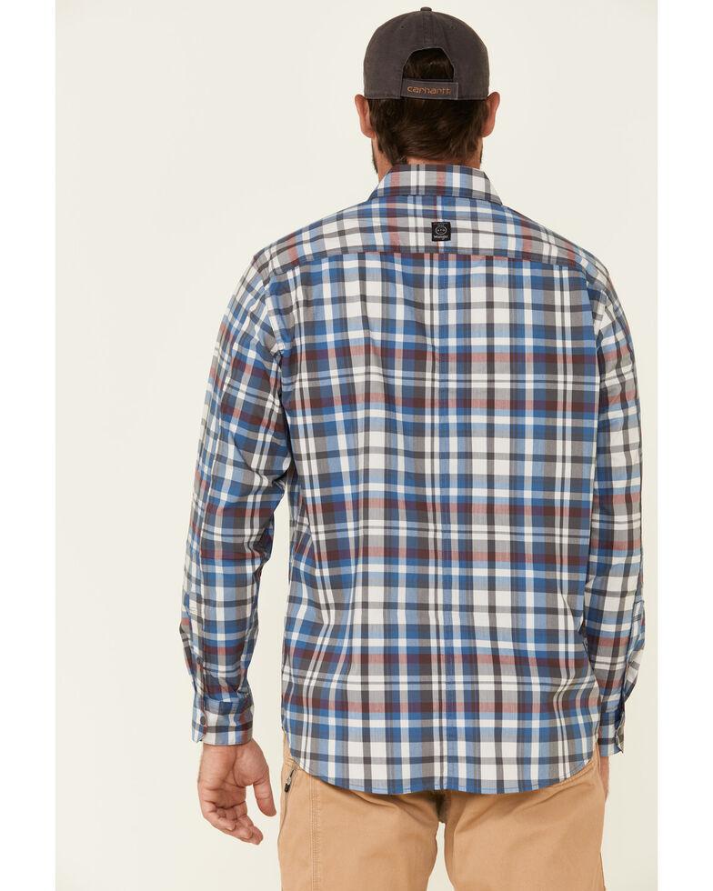 ATG™ by Wrangler Men's All Terrain Grey Plaid Pocket Utility Long Sleeve Western Flannel Shirt - Big & Tall, Grey, hi-res