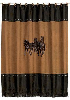 Three Horses Shower Curtain, Multi, hi-res