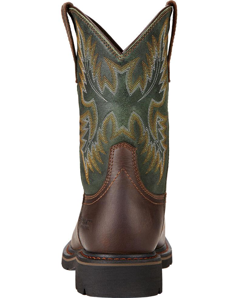 Ariat Men's Sierra Western Work Boots - Steel Toe, Dark Brown, hi-res