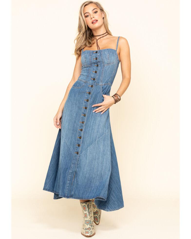 Driftwood Women's Trixie Marina Maxi Dress, Indigo, hi-res