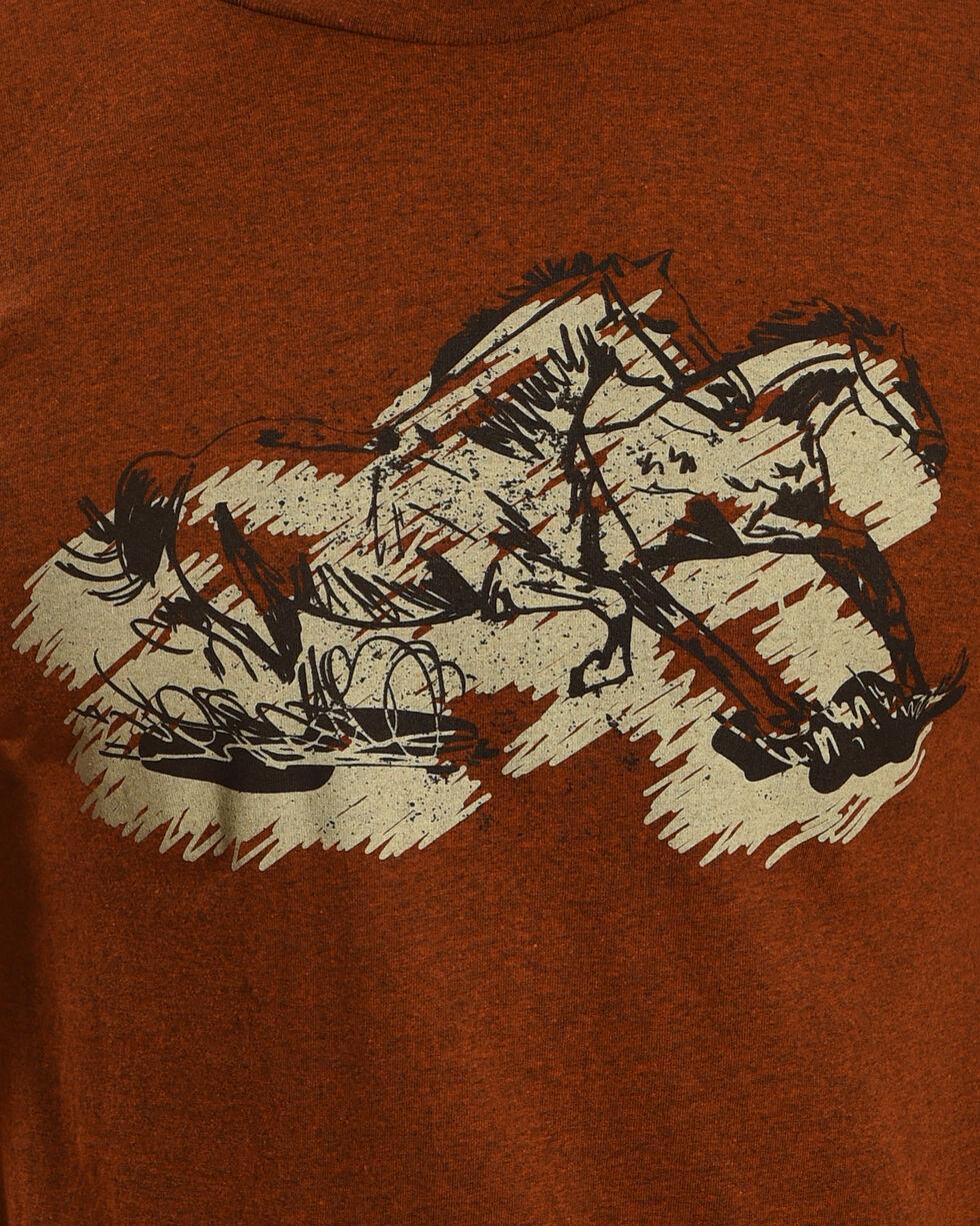 Cody James Men's Running Horse Short Sleeve T-Shirt, Rust Copper, hi-res