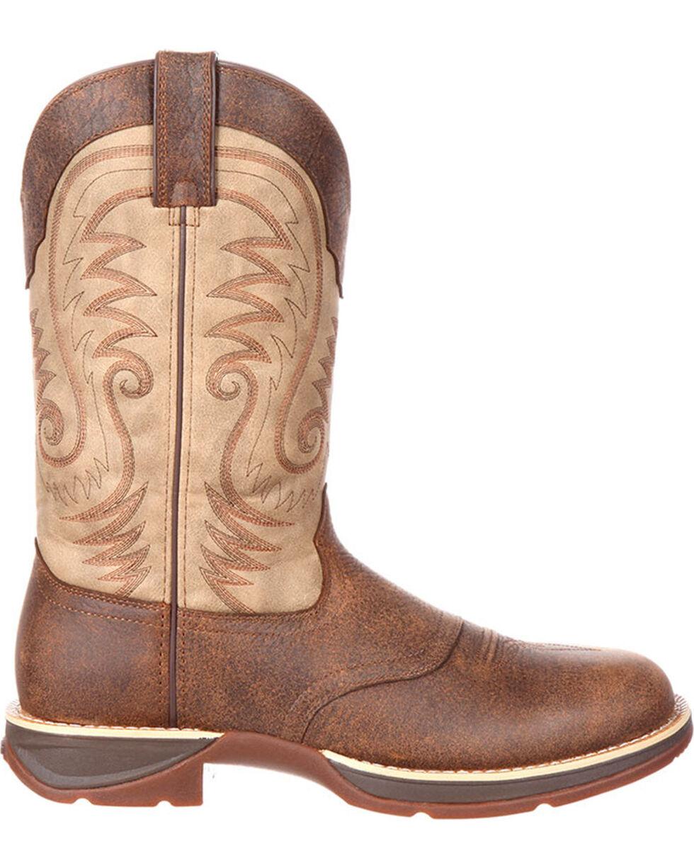 Durango Rebel Men's Western Saddle Boots - Round Toe, Brown, hi-res