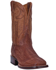 27cc2016191 El Dorado Mens Sanded Shark Western Boots - Wide Square Toe
