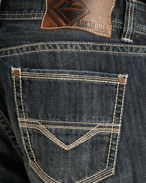 Rock & Roll Cowboy Men's Indigo Double Barrel Jeans - Straight Leg , Indigo, hi-res