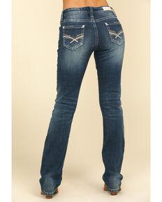 Rock & Roll Cowgirl Women's Medium Boyfriend Straight Leg Jeans , Blue, hi-res