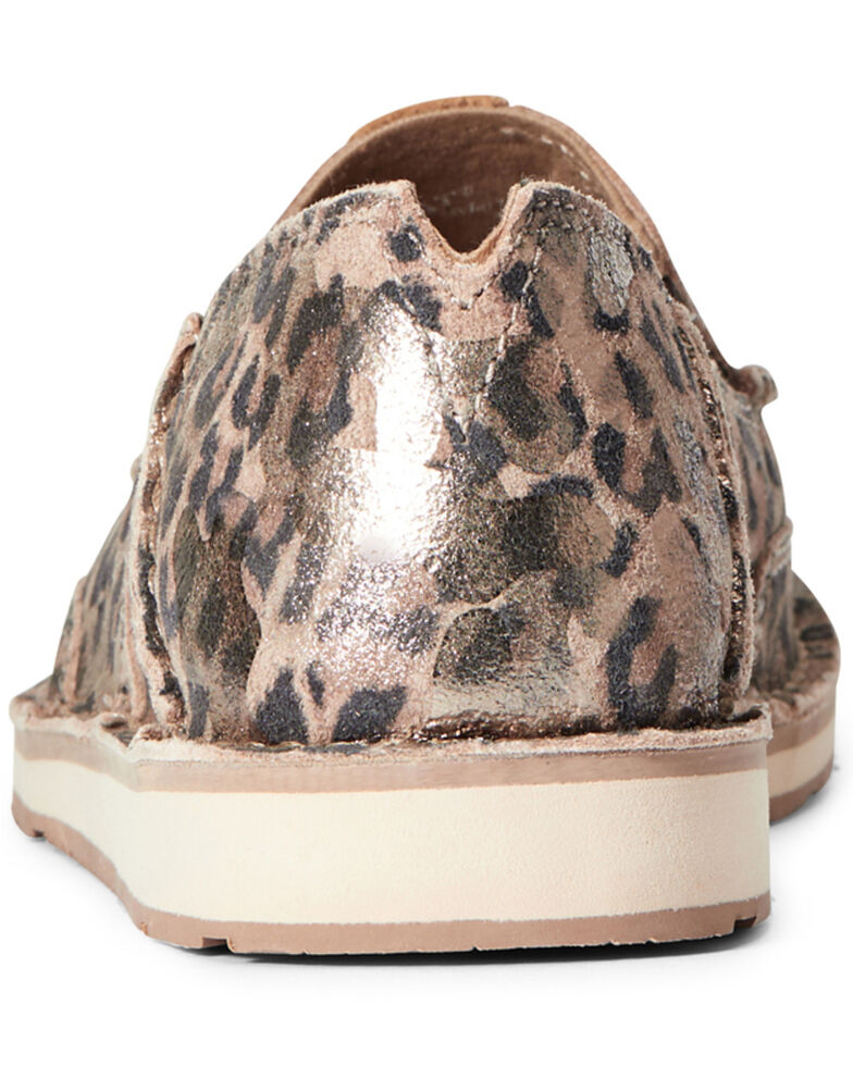 Ariat Women's Leopard Print Cruiser Shoes - Moc Toe, Brown, hi-res
