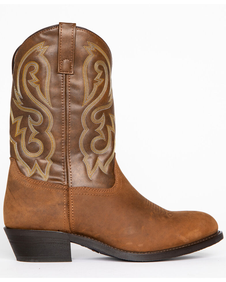 Cody James Men's Embroidered Western Boots - Round Toe, Distressed Brown, hi-res