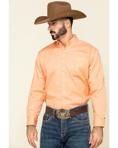 Ely Walker Men's Black Label Men's Coral Geo Print Long Sleeve Western Shirt , Coral, hi-res