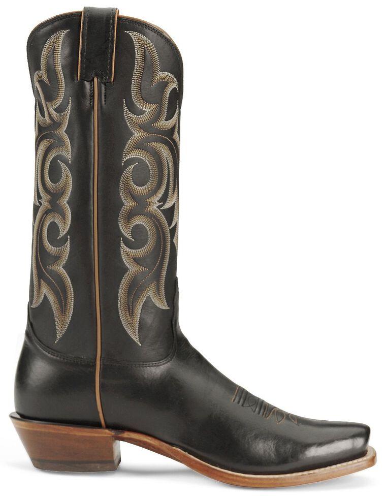 """Nocona Men's  13"""" Legacy Calf Boots - Square Toe, Black, hi-res"""