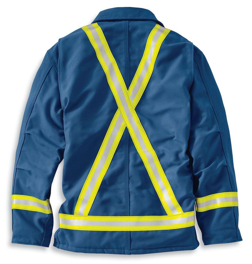 Carhartt Flame Resistant Reflective Quilt Lined Duck Coat - Big & Tall, Royal, hi-res