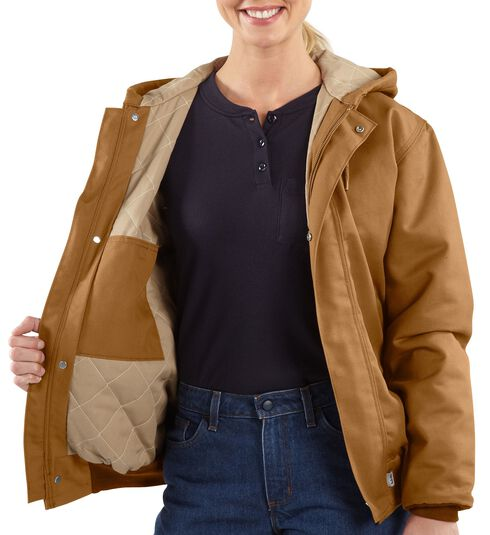 Carhartt Flame Resistant Midweight Canvas Active Jacket, Carhartt Brown, hi-res