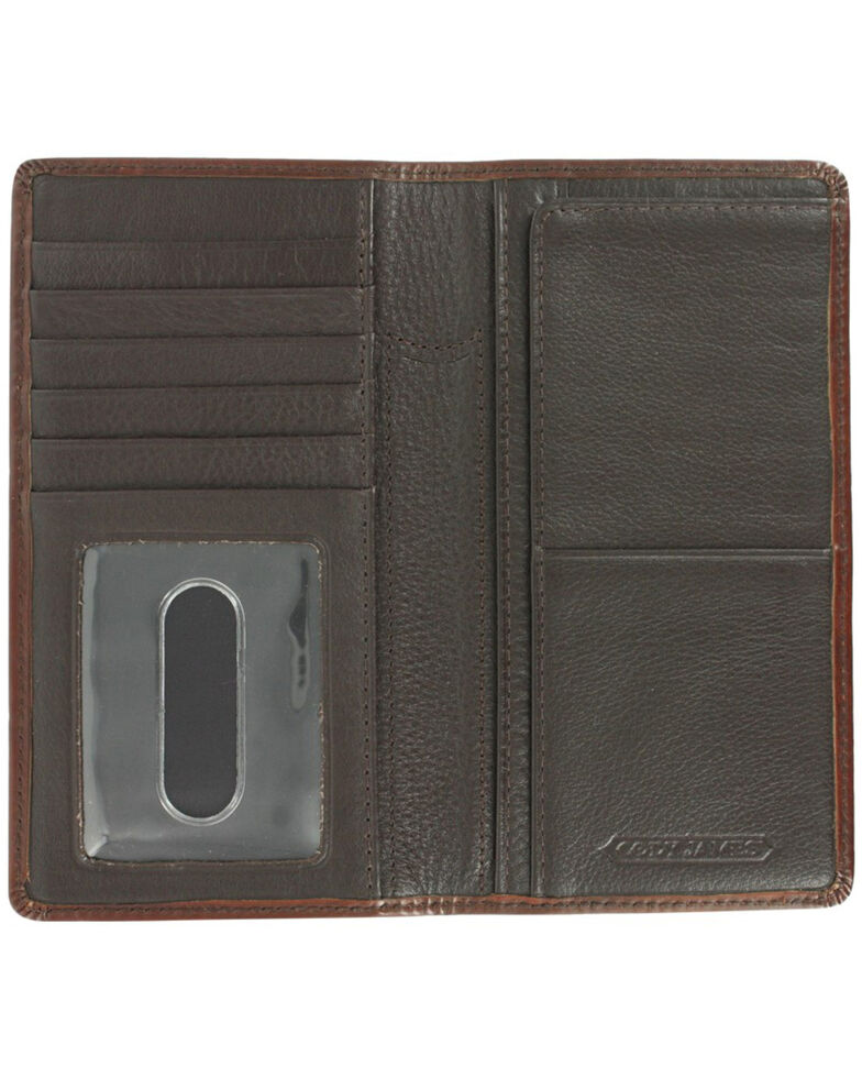 Cody James Men's Cattle Driven Wallet and Checkbook Cover, Dark Brown, hi-res