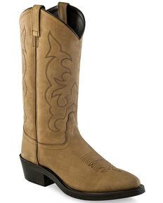 Old West Men's Brown Western Work Boots - Soft Toe, Brown, hi-res