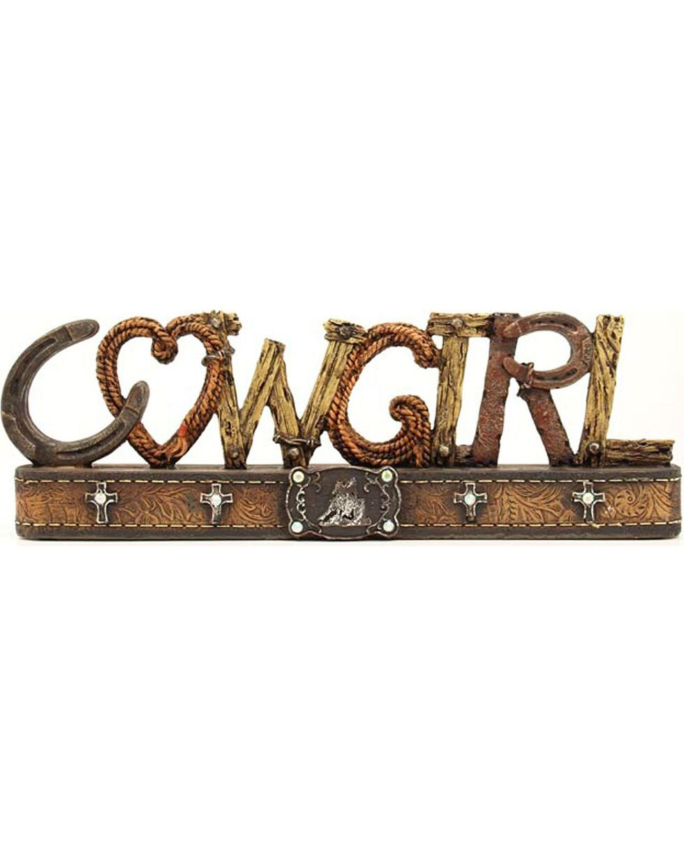Western Moments Cowgirl Table Top Decor, Brown, hi-res