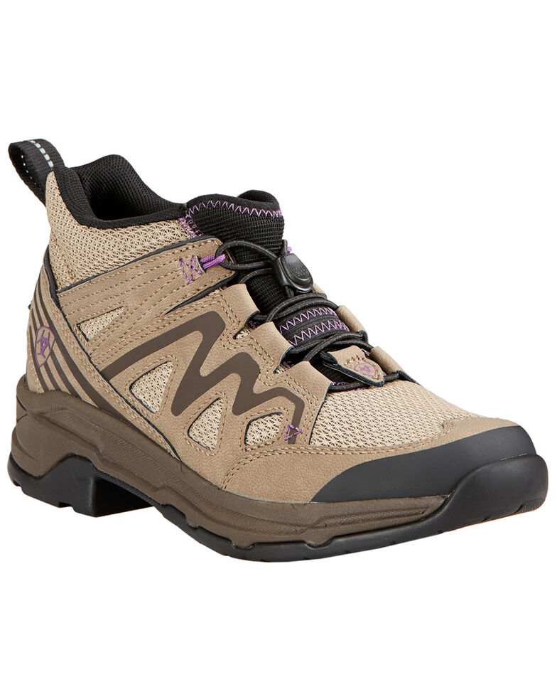 Ariat Women's Maxtrax UL Riding Lace-Up Shoes, Light Brown, hi-res